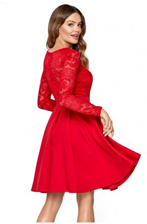 Ria- Wizytowa sukienka z koronkową górą KM301-1