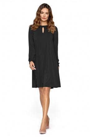 Lita- Trapezowa sukienka z szyfonu KM300