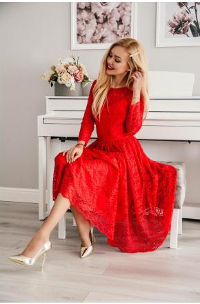 Carla- Koronkowa sukienka midi KM302-1
