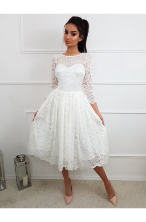 e5726fc7c0 Carla- Koronkowa sukienka midi KM302-4