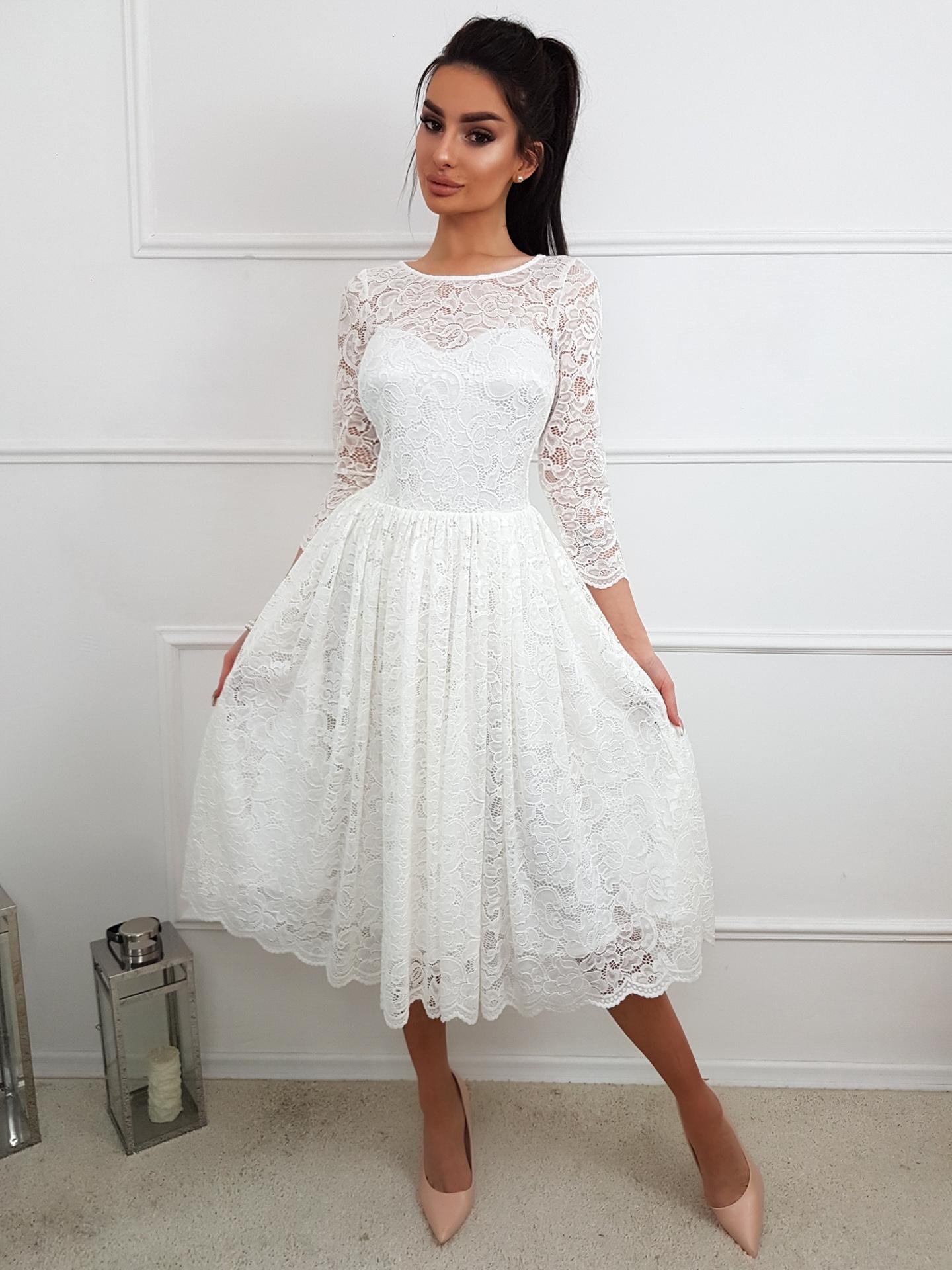 fce6368c05 Carla- Koronkowa sukienka midi KM302-4 - ❤ Kartes-Moda ❤