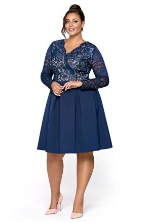 Alba- Rozkloszowana sukienka z koronką KM306-3