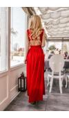 Czerwona suknia maxi to fenomenalna kreacja wieczorowa, weselna, balowa lub studniówkowa.