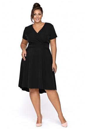 Lena - Asymetryczna wizytowa sukienka KM303PS