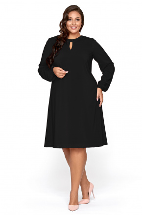 Lita- Trapezowa sukienka z szyfonu KM300PS