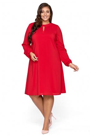 Lita- Trapezowa sukienka z szyfonu KM300-1PS