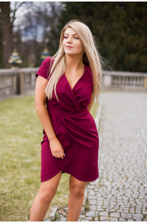 Lili - Koktajlowa sukienka tulipan  KM308-4