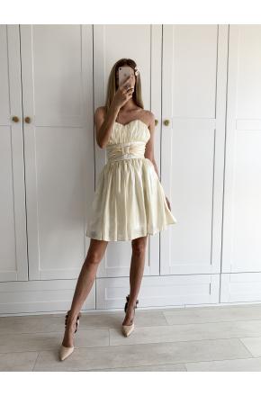 Nena - Gorsetowa sukienka z kokardą KM309