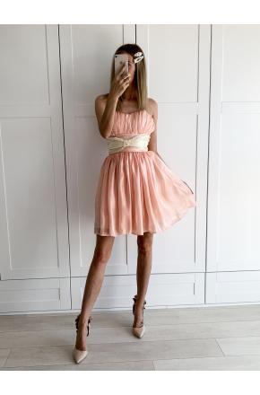 Nena - Gorsetowa sukienka z kokardą KM309-3