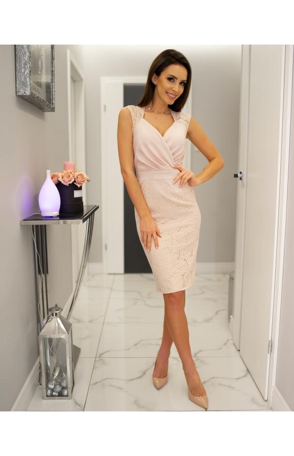 a770e81b35 Lara - Elegancka sukienka wizytowa KM311-3 - ❤ Kartes-Moda ❤