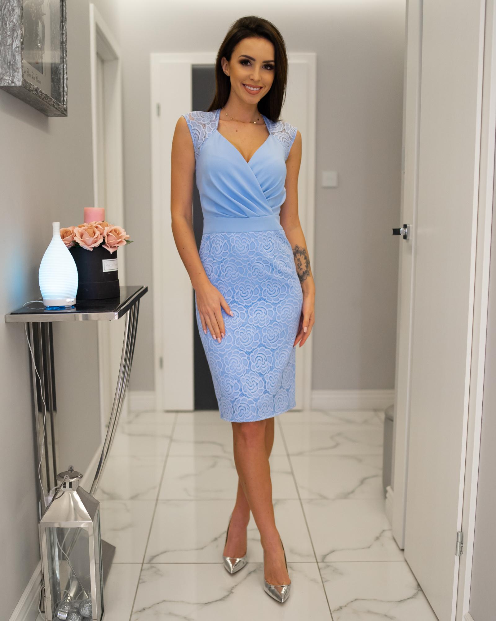 cbc31f3265 Lara -Elegancka sukienka wizytowa KM311-4 - ❤ Kartes-Moda ❤