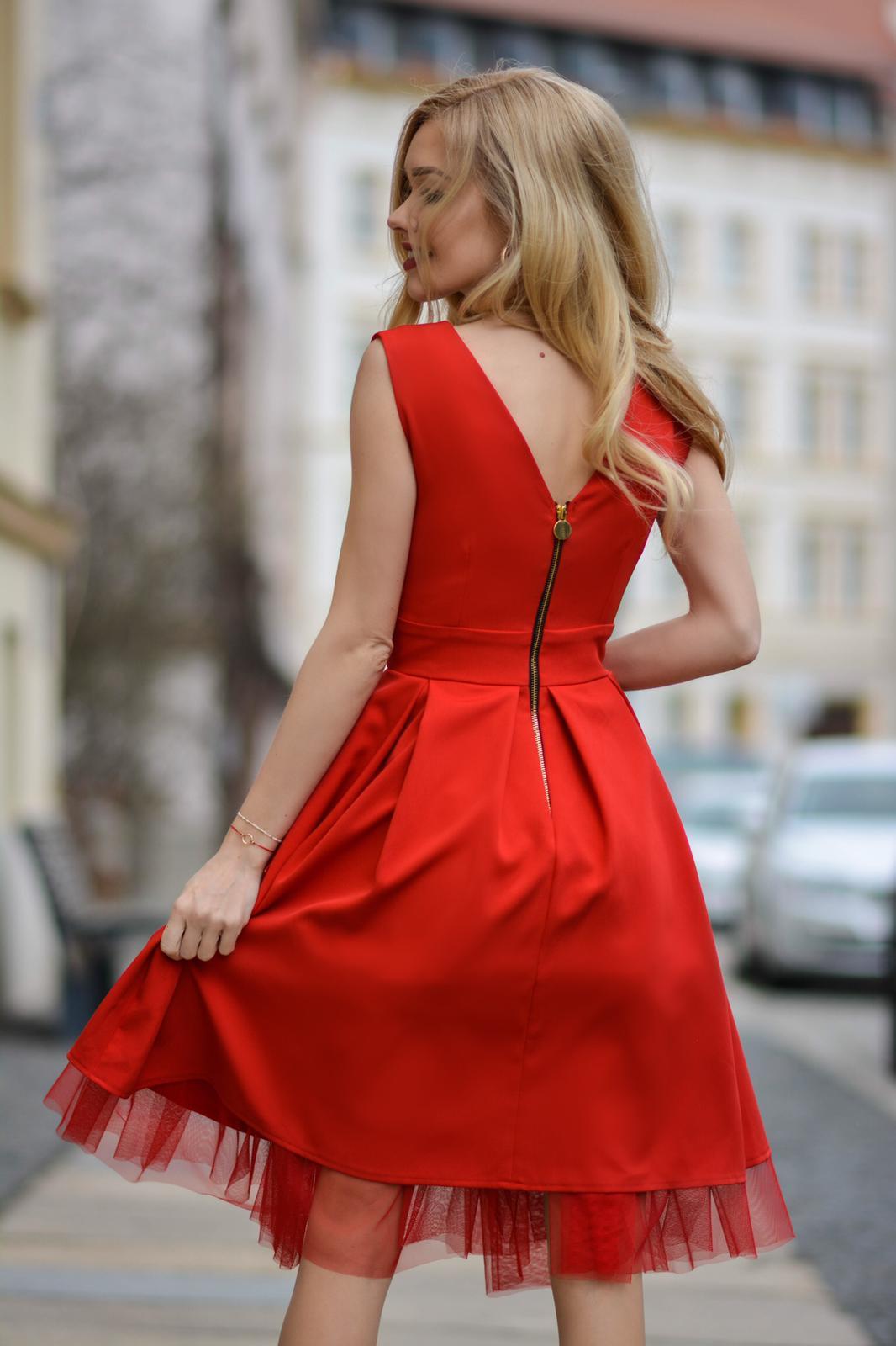 009c464841 Eva -Rozkloszowana sukienka na wesele z tiulem km314-1 - ❤ Kartes ...