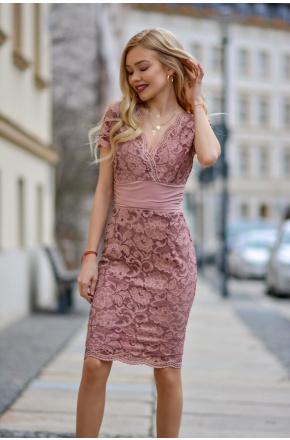 Dalia -Elegancka koronkowa sukienka KM316-3