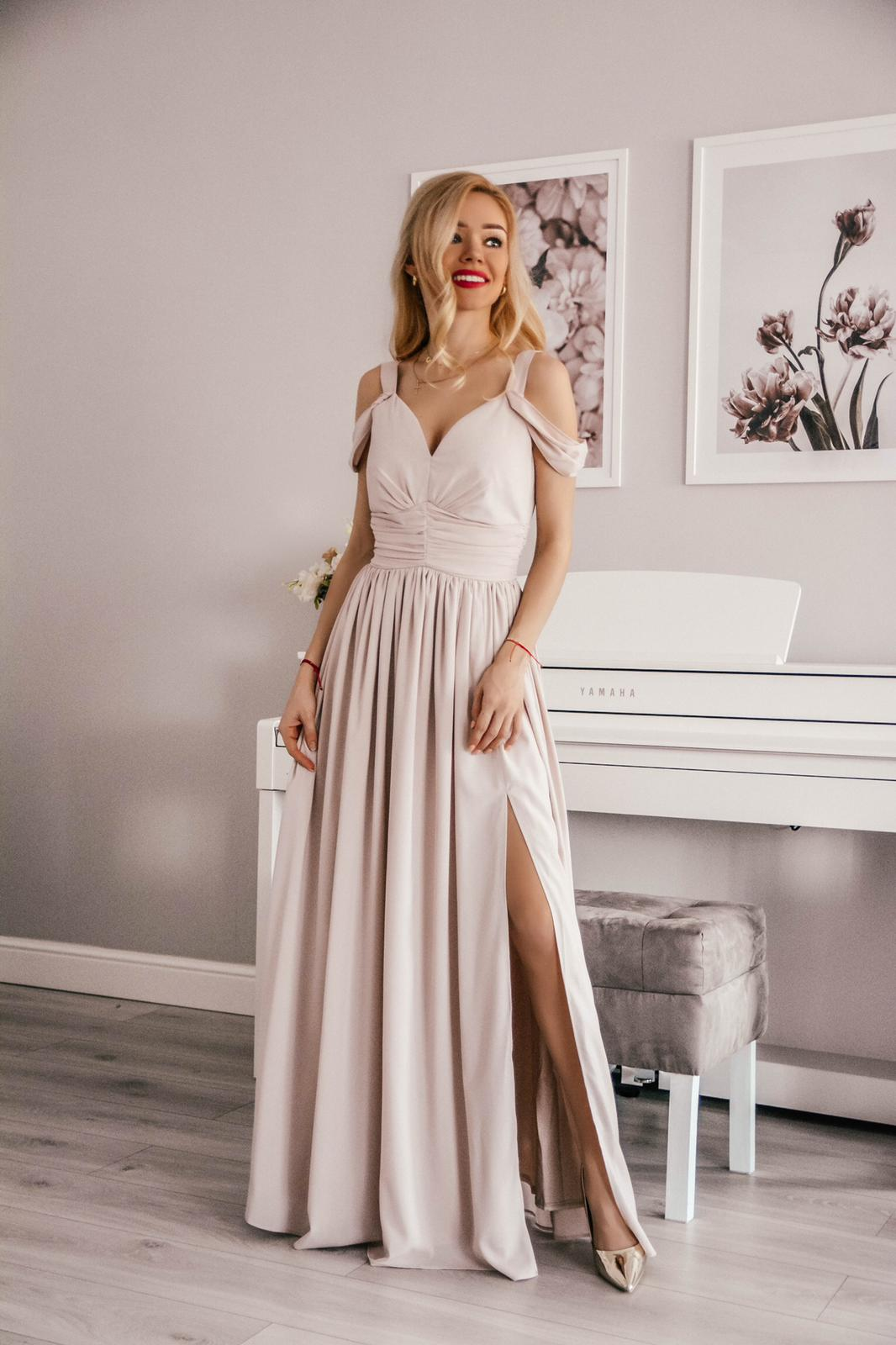 49d1542ddf Emma -Elegancka długa sukienka z szyfonu KM315-3 - ❤ Kartes-Moda ❤
