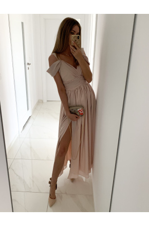 Emma -Elegancka długa sukienka z szyfonu KM315-3