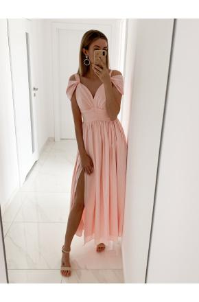 Emma -Elegancka długa sukienka z szyfonu KM315-4