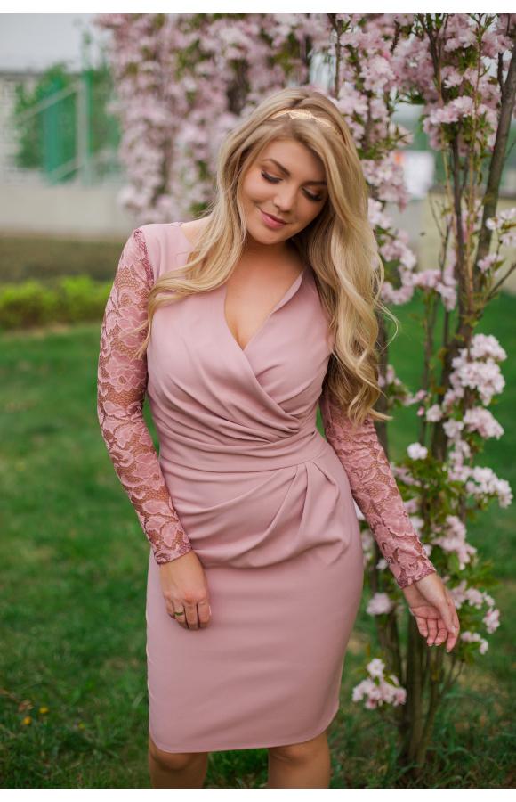Elegancka sukienka, która może być traktowana jako kreacja koktajlowa, wizytowa lub imprezowa.