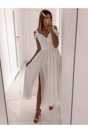 Emma - Ślubna długa sukienka z szyfonu KM315-5