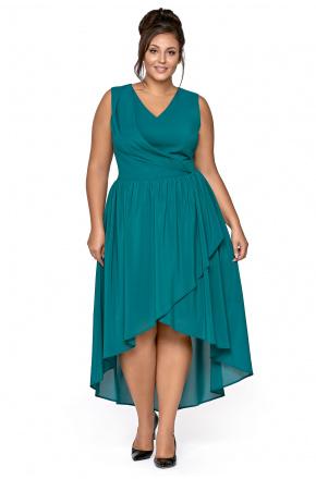 Sara -Asymetryczna sukienka z szyfonu KM268-6PS