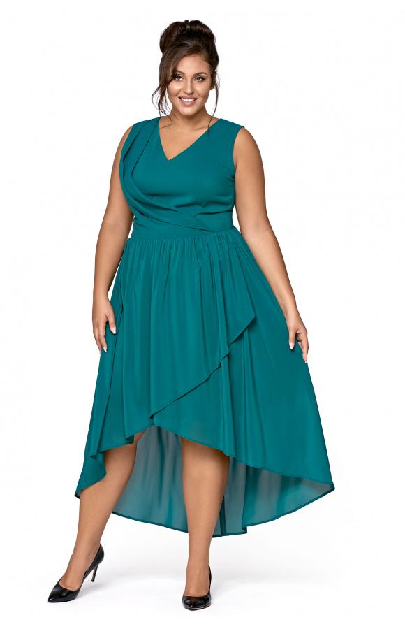 51dbcc08 Sara -Asymetryczna sukienka z szyfonu KM268-6PS
