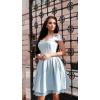 Amelia -  Błękitna sukienka z tiulem  KM323-3