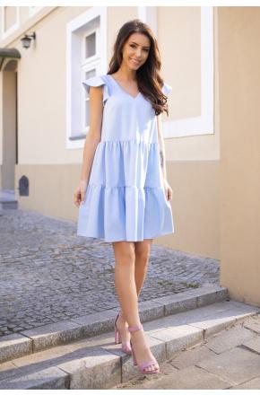 Ana -  Błękitna sukienka oversize  KM324-3