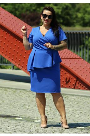 Wizytowa sukienka z baskinką KM296-2