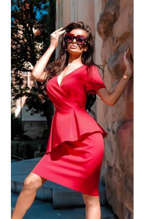 Wizytowa sukienka z baskinką KM296-1