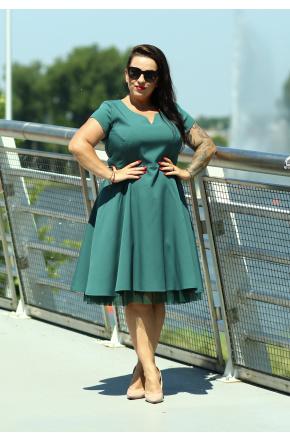 Rozkloszowana sukienka KM252-6PS