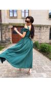 Wytworna suknia maxi wspaniale sprawdzi się na weselu, balu, studniówce, zabawie sylwestrowej.