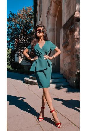 Wizytowa sukienka z baskinką KM296-6