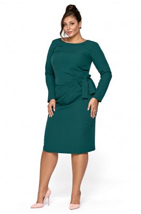 Keira -  Wizytowa sukienka z drapowaniem i wiązaniem KM327-6