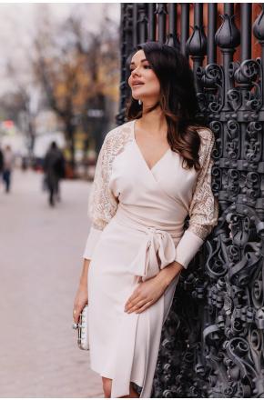 Angela Kimonowa sukienka z koronkowymi rękawami KM332-3