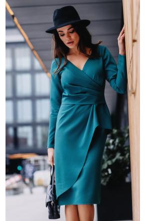 Mija stylowa midi sukienka z drapowaniem KM334-6