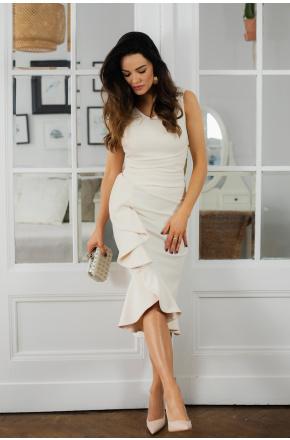 Sukienka z falbaną na wesele Diana KM340-3