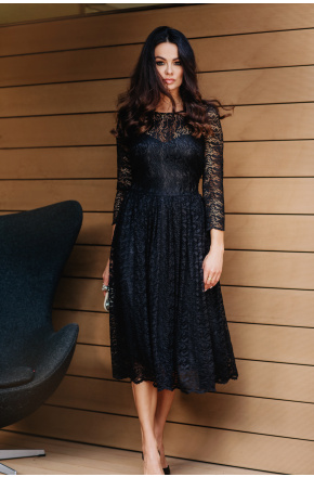 Carla- Koronkowa sukienka midi KM302