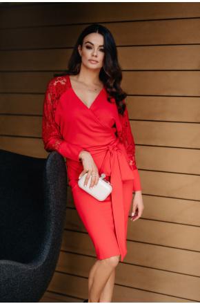 Angela Kimonowa sukienka z koronkowymi rękawami KM332-1