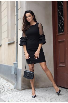 Sukienka z transparentnymi rękawami Bella KM343