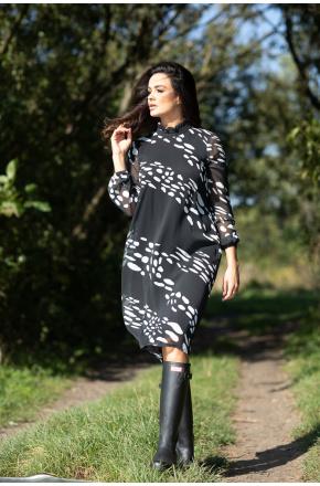 Sukienka z niezwykłym printem Blanka KM344