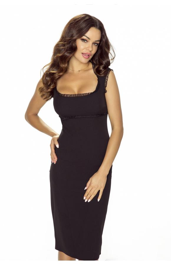 Elegancka mała czarna o ponadczasowym kroju i z minimalistycznymi zdobieniami.
