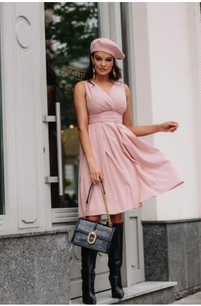 Sukienka Szyfonowa z dekoltem na wesele km117