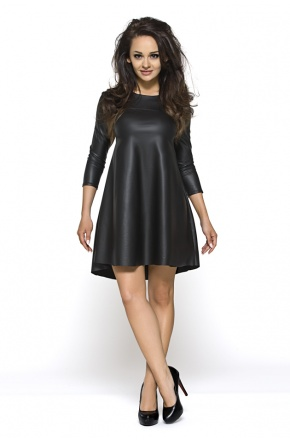 Skórzana Sukienka tunika w kształcie litery A KM119