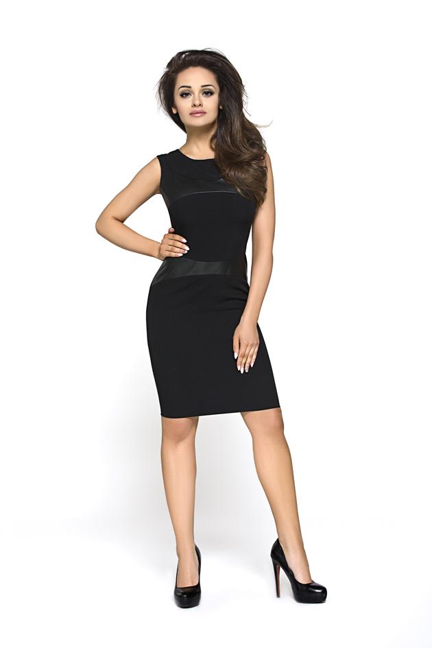 2a646dc887 Sukienka ze wstawkami ze skóry KM149 - ❤ Kartes-Moda ❤