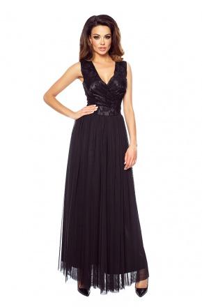 Balowa suknia z tiulu i koronki KM151