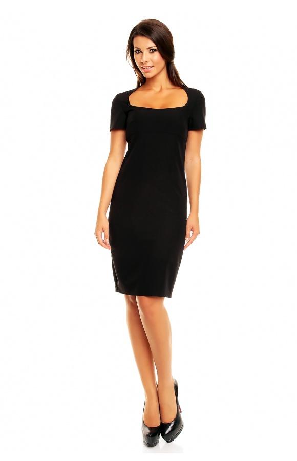 0a96c08aef Klasyczna sukienka z krótkim rękawkiem KM152 - ❤ Kartes-Moda ❤