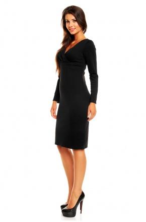 Elegancka sukienka z zakładanym dekoltem KM159