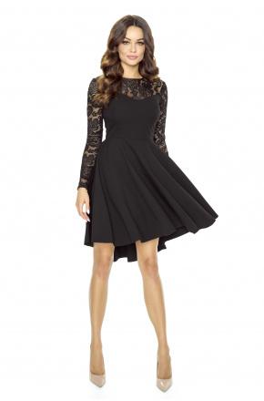 ♥Asymetryczna sukienka z koronkową górą KM168