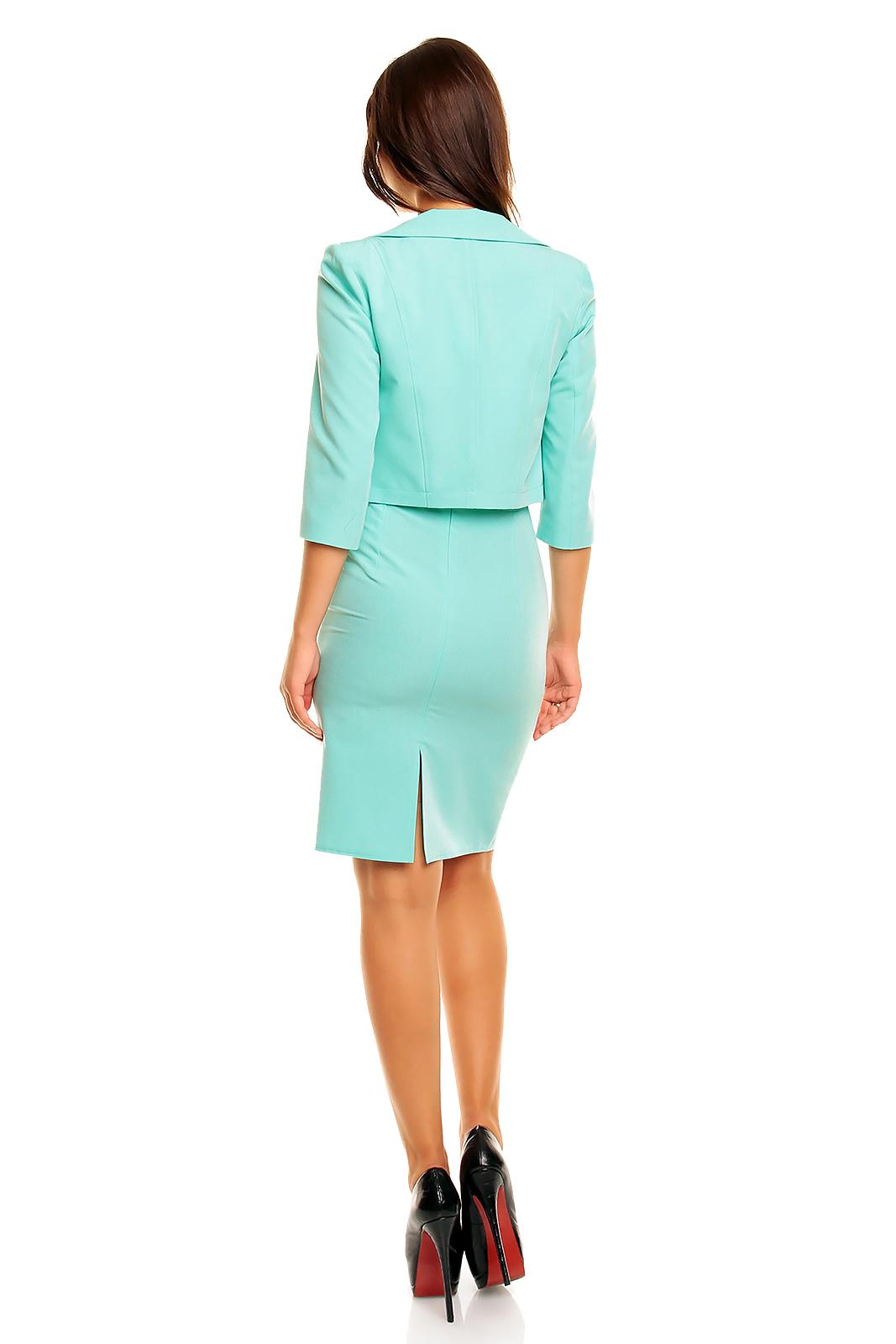 ea60a8253d Seksowny i elegancki komplet żakiet z sukienką KM162-4 mięta - ❤  Kartes-Moda ❤