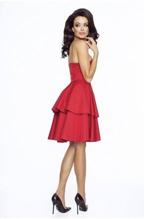 Gorsetowa sukienka z podwójną falbaną KM182-1