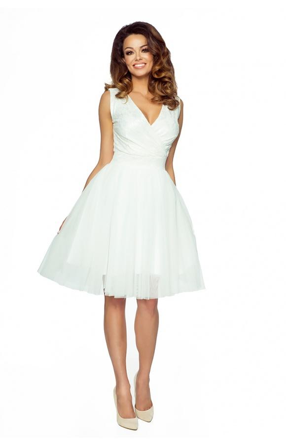 d1a221beb7 Ślubna tiulowa sukienka z koronkową górą KM141-2 - ❤ Kartes-Moda ❤